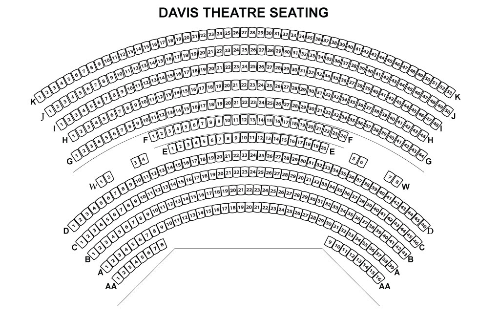Davis Theatre Seating Chart