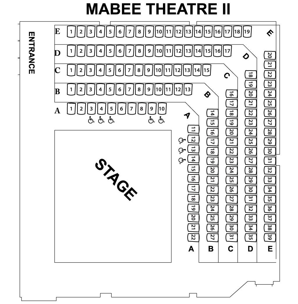 Mabee Theatre II Chart